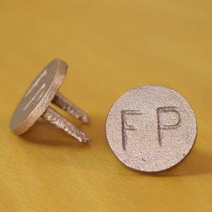 Flushing Point FP Brass Marker Tag - Quality Australian made Kerbmarkers, Tags & Plates since 1998. Stainless Steel & Brass Markers, Tags & Labels - Stainless Steel FP (& CJ - Cleaning joint) marker, also available
