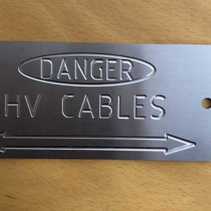 HV Cable Stainless Label
