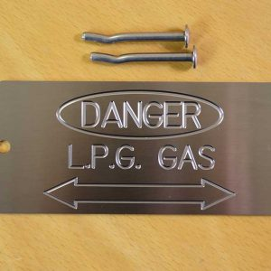 Stainless Gas Pipe Markers /Plates for L.P.G Gas cable location & services