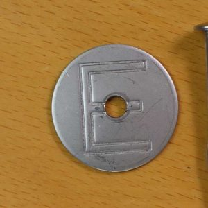 Stainless steel Electrical E tag