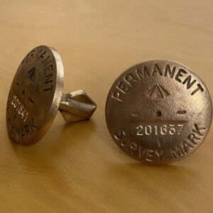 Brass Permanent Survey marks